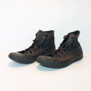 Converse Men's 6 Women's 8 Black High Top Sneakers